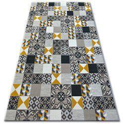 Килим ЛІСАБОН 27218/255 квадрати плитки жовтий Лісабонський стиль