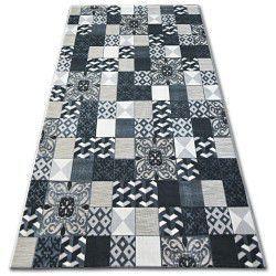 Килим лисицяBOA 27218/356 квадрати плитки чорний Лісабонський стиль