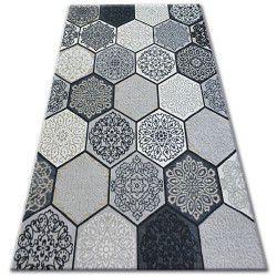 Килим лисицяBOA 27212/356 шестикутник Соти сірий