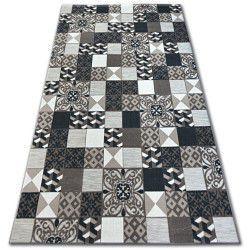 Килим лисицяBOA 27218/985 квадрати плитки коричневий Лісабонський стиль