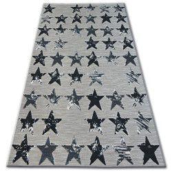 Килим лисицяBOA 27219/956 зірки чорний