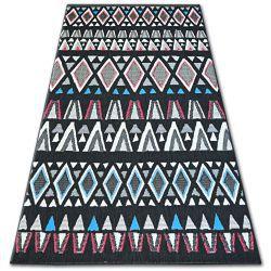 Килим шнуровий SIZAL COLOR 19321/239 діаманти трикутники чорний