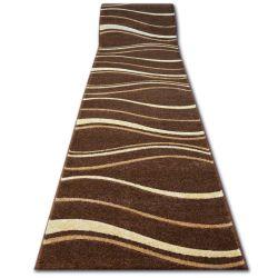 Килим Лущув HEAT-SET FRYZ FOCUS - 8732 коричневий венге хвилі какао