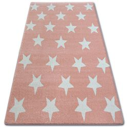 Килим SKETCH - FA68 рожевий/кремовий - звезды