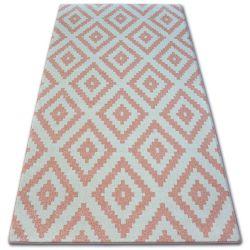 Килим SKETCH - F998 рожевий/кремовий - квадрати