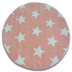Килим SKETCH колесо - FA68 рожевий/кремовий - зірки