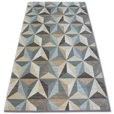 Килим ARGENT - W6096 трикутники бежевий / синій