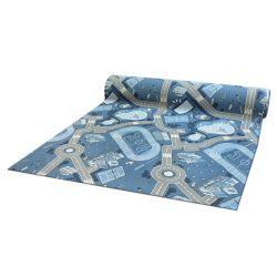 Antypoślizgowa wykładzina dywanowa dla dzieci STREET niebieski