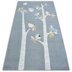 Килим PASTEL 18405/072 - птахів сірий