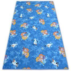 Wykładzina dywanowa dla dzieci FROZEN niebieski KRAINA LODU ELZA
