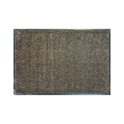 Придверний килим прорезинений MOOREA коричневий Mikrofibra