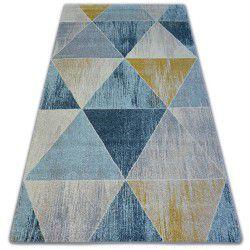 Килим NORDIC трикутники синій/кремовий G4584