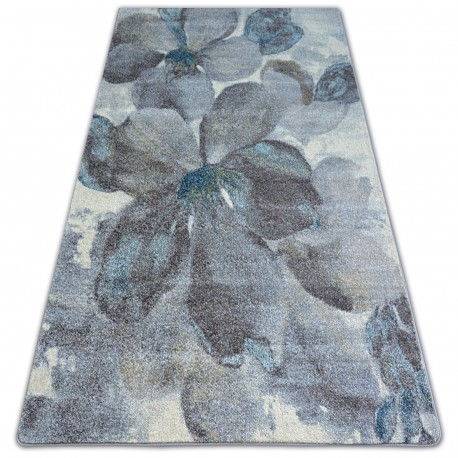 Килим NORDIC квіти сірий/коричневий FD291