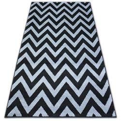 Килим BCF BASE CLINED 3898 зигзаг чорний/сірий