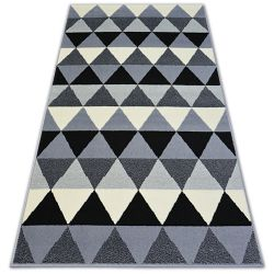Килим BCF BASE трикутникиS 3813 трикутники чорний/сірий
