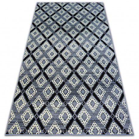 Килим BCF BASE DIAMONDS 3869 квадрати сірий/чорний