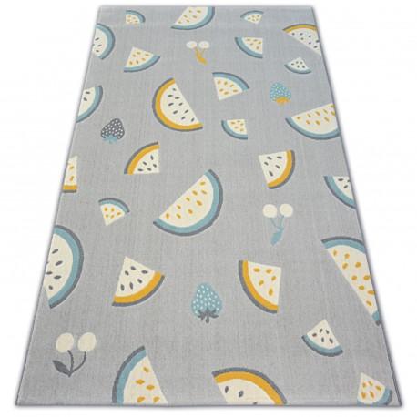 Килим PASTEL 18407/052 - фрукти сірий бірюзовий золотий