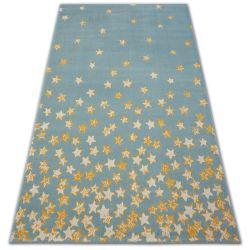 Килим PASTEL 18408/032 - зірок бірюзовий золото кремовий