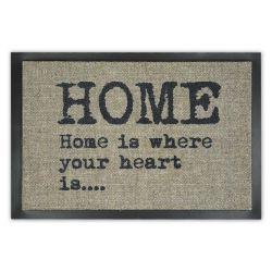 Придверний килим прорезинений HOME 60 бежевий