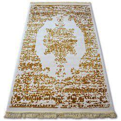 Килим AKRYL MANYAS 192AA слонова кістка/золотий бахрома