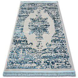 Килим AKRYL MANYAS 192AA сірий/синій бахрома