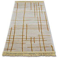 Килим AKRYL MANYAS 191AA слонова кістка/золотий бахрома