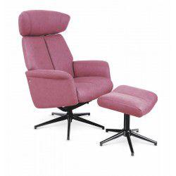 Fotel rozkładany VIVALDI темний рожевий