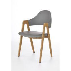 Krzesło K247 сірий / дуб miodowy