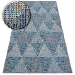 Килим шнуровий SIZAL LOFT 21132 трикутники слонова кістка/срібло/синій
