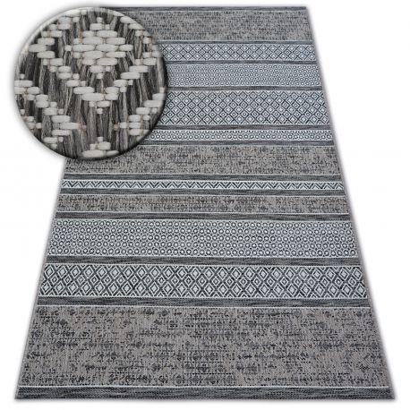 Килим шнуровий SIZAL LOFT 21118 BOHO слонова кістка/срібло/сірий