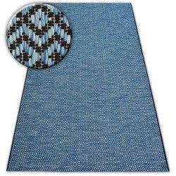 Килим шнуровий SIZAL LOFT 21144 діаманти зигзаг синій/чорний/срібло
