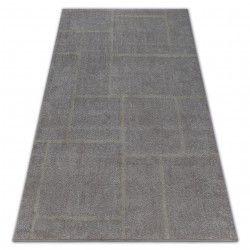 Килим SOFT 8031 прямокутники коричневий / бежевий