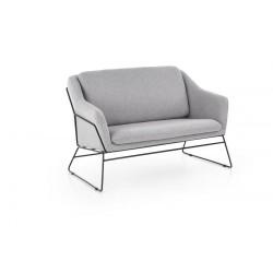 Крісло для відпочинку подвійний SOFT 2 XL яскравий сірий SOFA