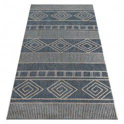 Килим SOFT 8040 ацтекскій BOHO сірий