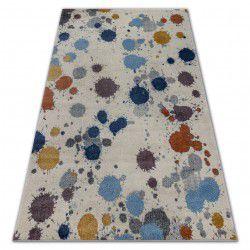 Килим SOFT 6152 SPLASH PASTEL кремовий / яскраво- сірий / синій