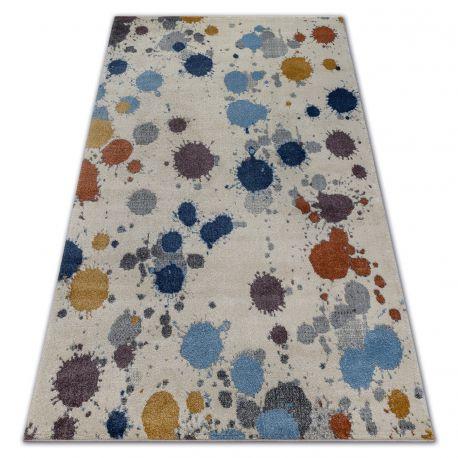 Килим SOFT 6152 SPLASH PASTEL кремовий / яскравий сірий / синій