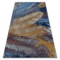 Килим SOFT 6316 ПЕРО жовтий / синій / гірчичний