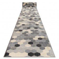 Доріжка килимова HEOS 78537 сірий / крем Гексагон