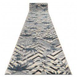 Доріжка килимова HEOS 78540 крем / синій Листя джунглі
