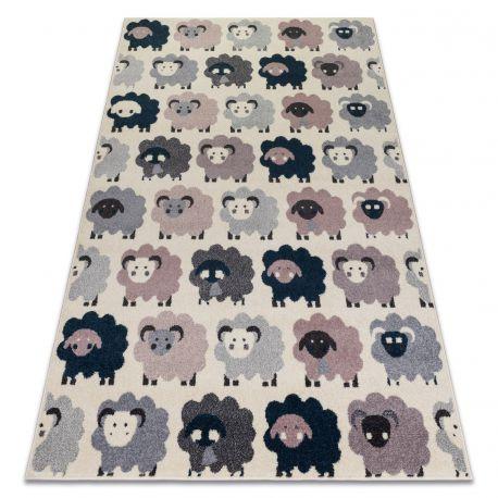 Килим HEOS 78468 крем / рожевий / синій / сірий вівці