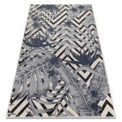 Килим HEOS 78540 крем / синій Листя джунглі