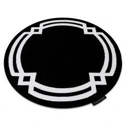 Килим HAMPTON Lux коло чорний