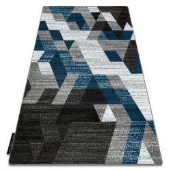 Килим INTERO TECHNIC 3D алмази трикутники синій