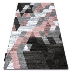 Килим INTERO TECHNIC 3D алмази трикутники рожевий