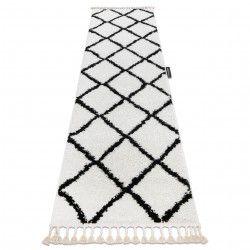 Килим, Доріжка BERBER CROSS білий - для кухні, передпокою, у коридор