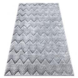 Килим Structural SIERRA G5010 плоский тканий сірий - Геометричні, зигзаг