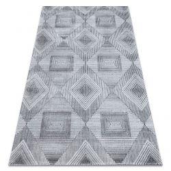 Килим Structural SIERRA G5011 плоский тканий сірий / чорний - геометричні, алмази