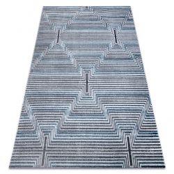 Килим Structural SIERRA G5018 плоский тканий синій - смужки, алмази