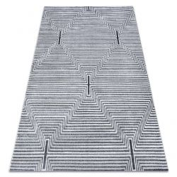 Килим Structural SIERRA G5018 плоский тканий сірий - смужки, алмази