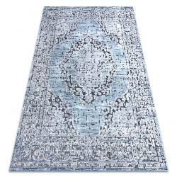 Килим Structural SIERRA G8076 плоский тканий синій / сірий - розетка